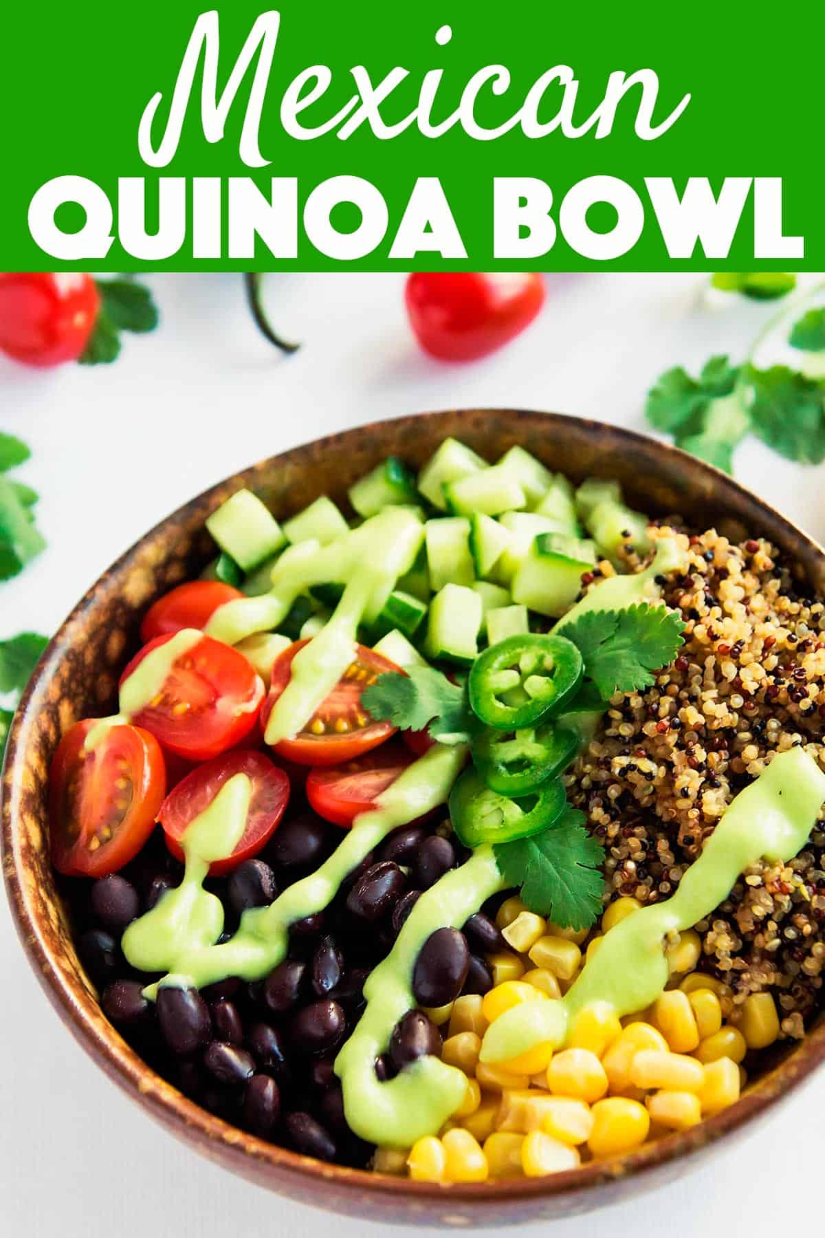 Mexican Quinoa Avocado Salsa Bowl