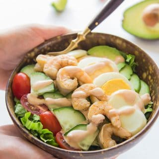 Shrimp Louie - Best Avocado Shrimp Salad