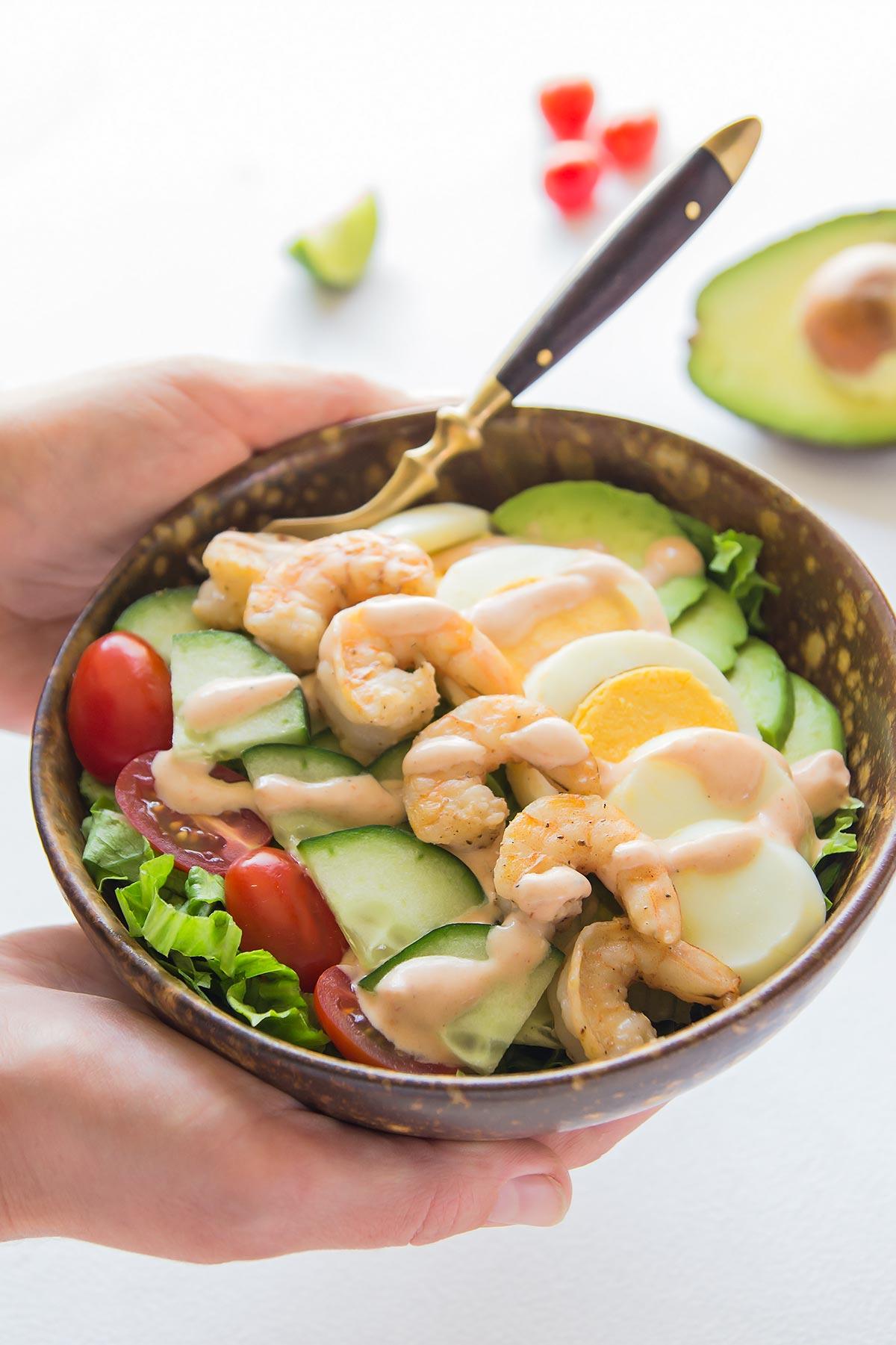 Shrimp Louie - Best Avocado Shrimp Salad