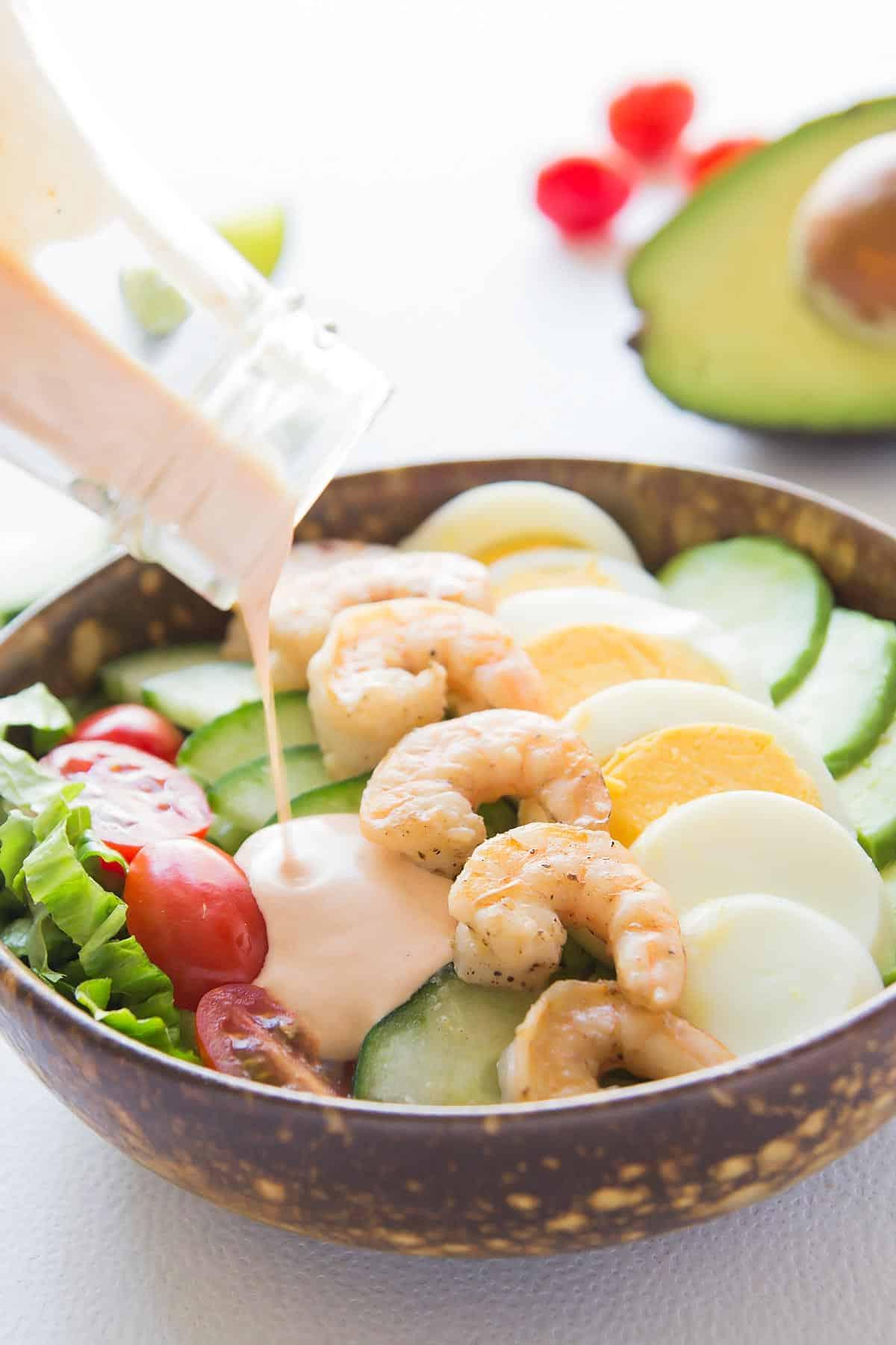 Shrimp Louie Avocado Salad