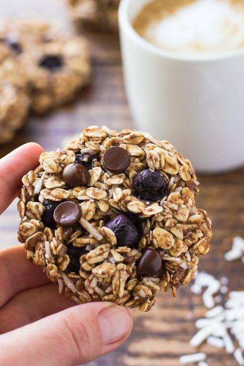Blueberry Breakfast Cookie in hand