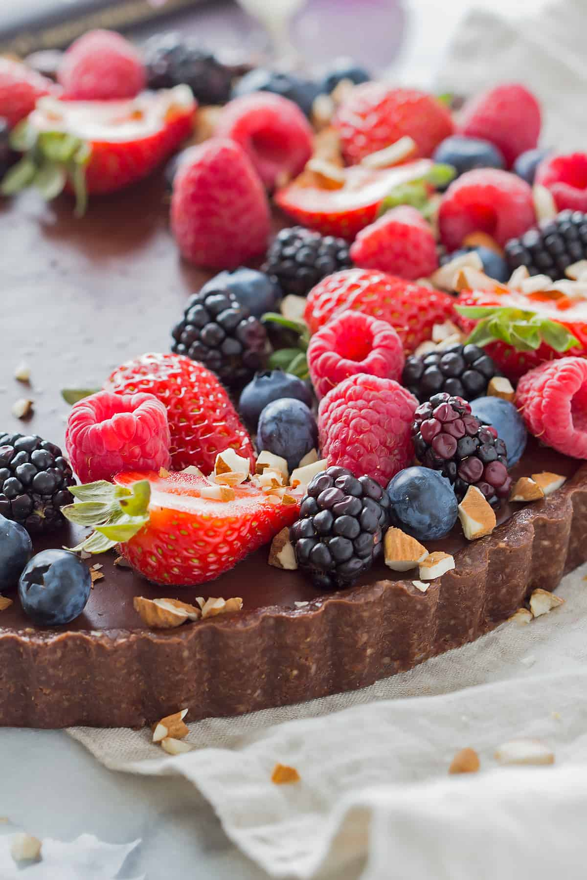 No Bake Chocolate Tart