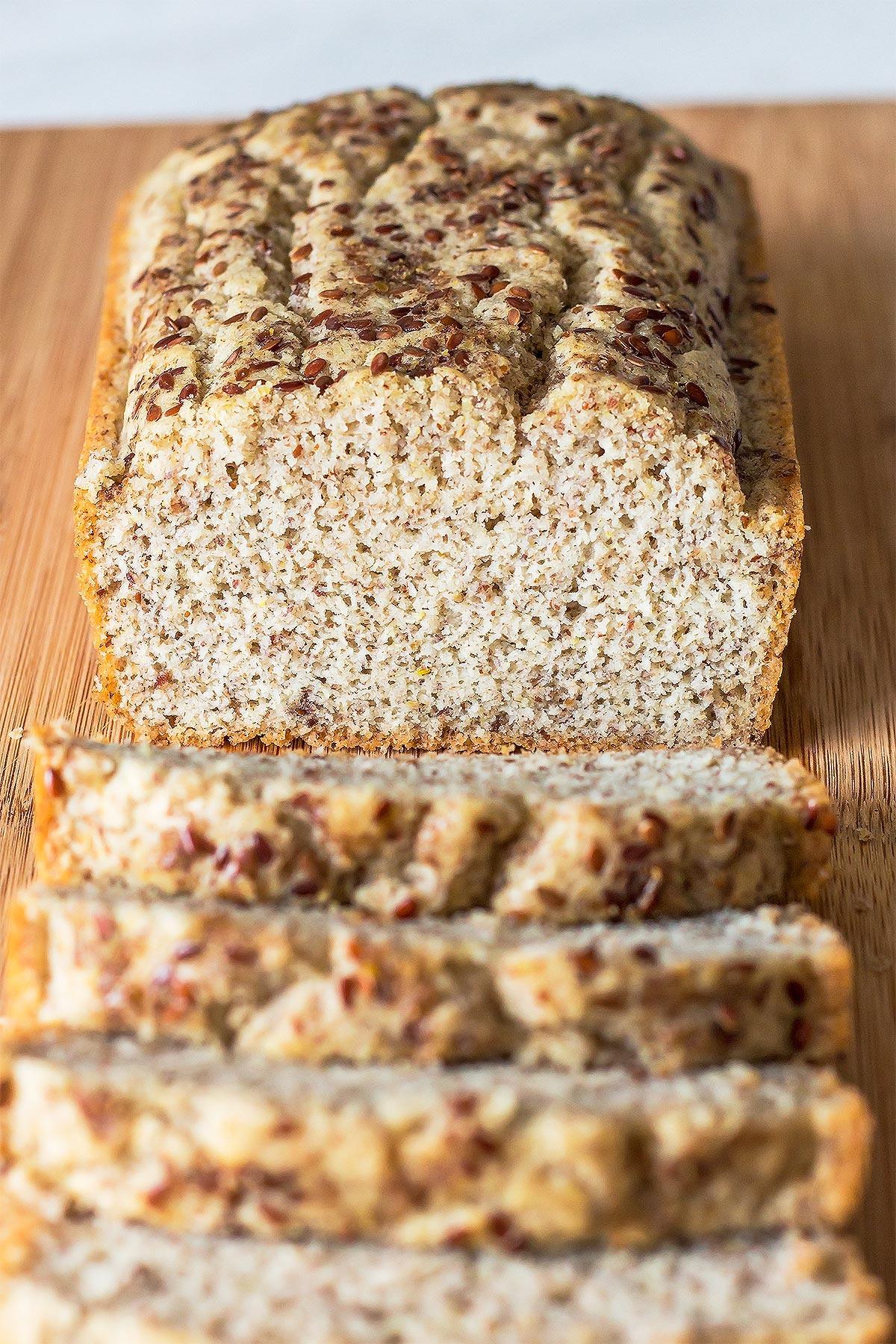 Fluffy Coconut Flour Bread Loaf