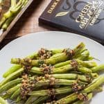 Baked Green Beans with Chocolate Picada Sauce