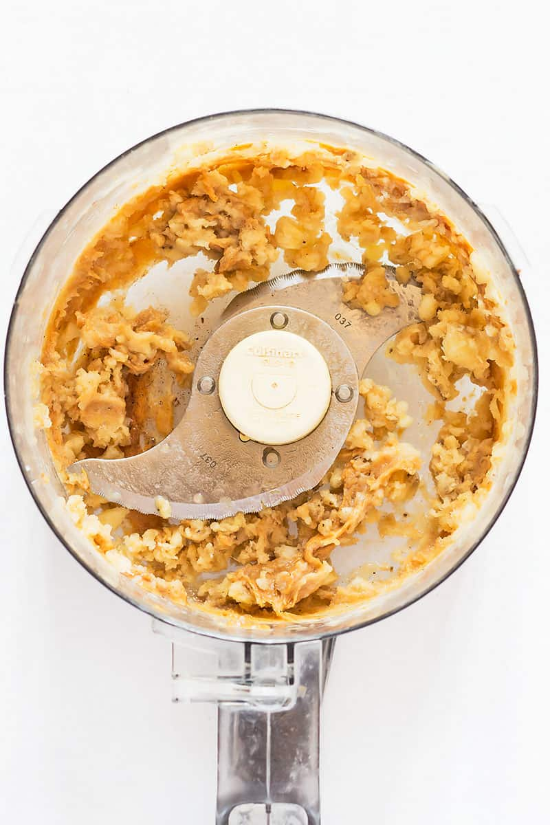 Blending Peanut Butter Nice Cream