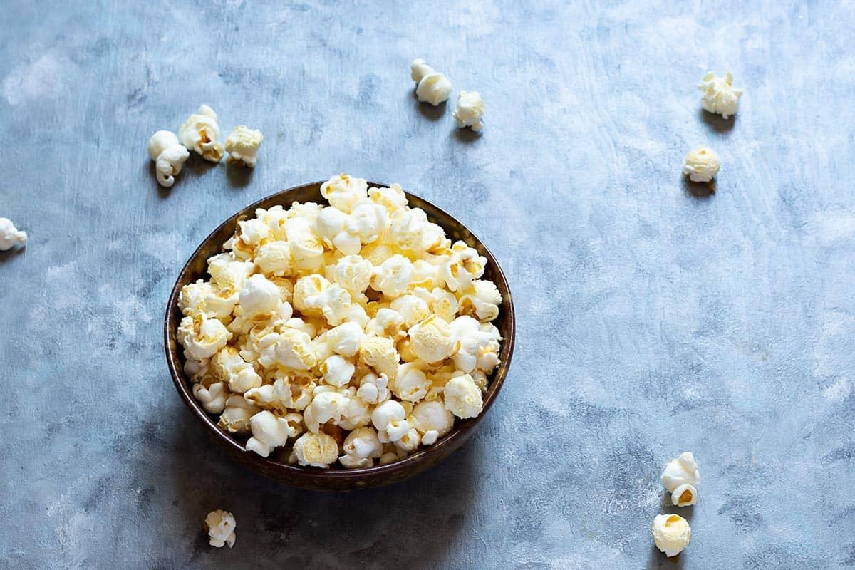 Bowl of Plain Popcorn