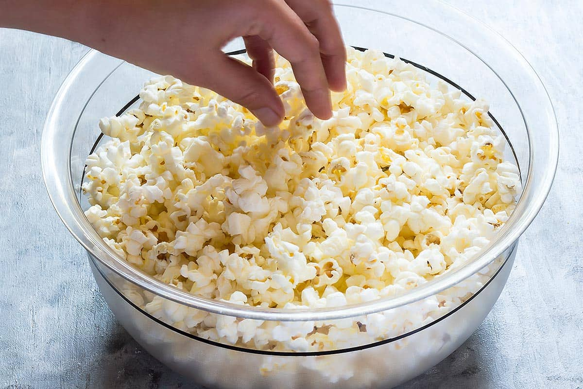 Eating a Bowl of Popcorn