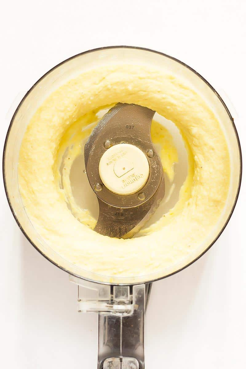 Pineapple Nice Cream in Food Processor