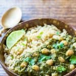 Chickpea and Spinach Curry (Chana Palak) – vegan, gluten free