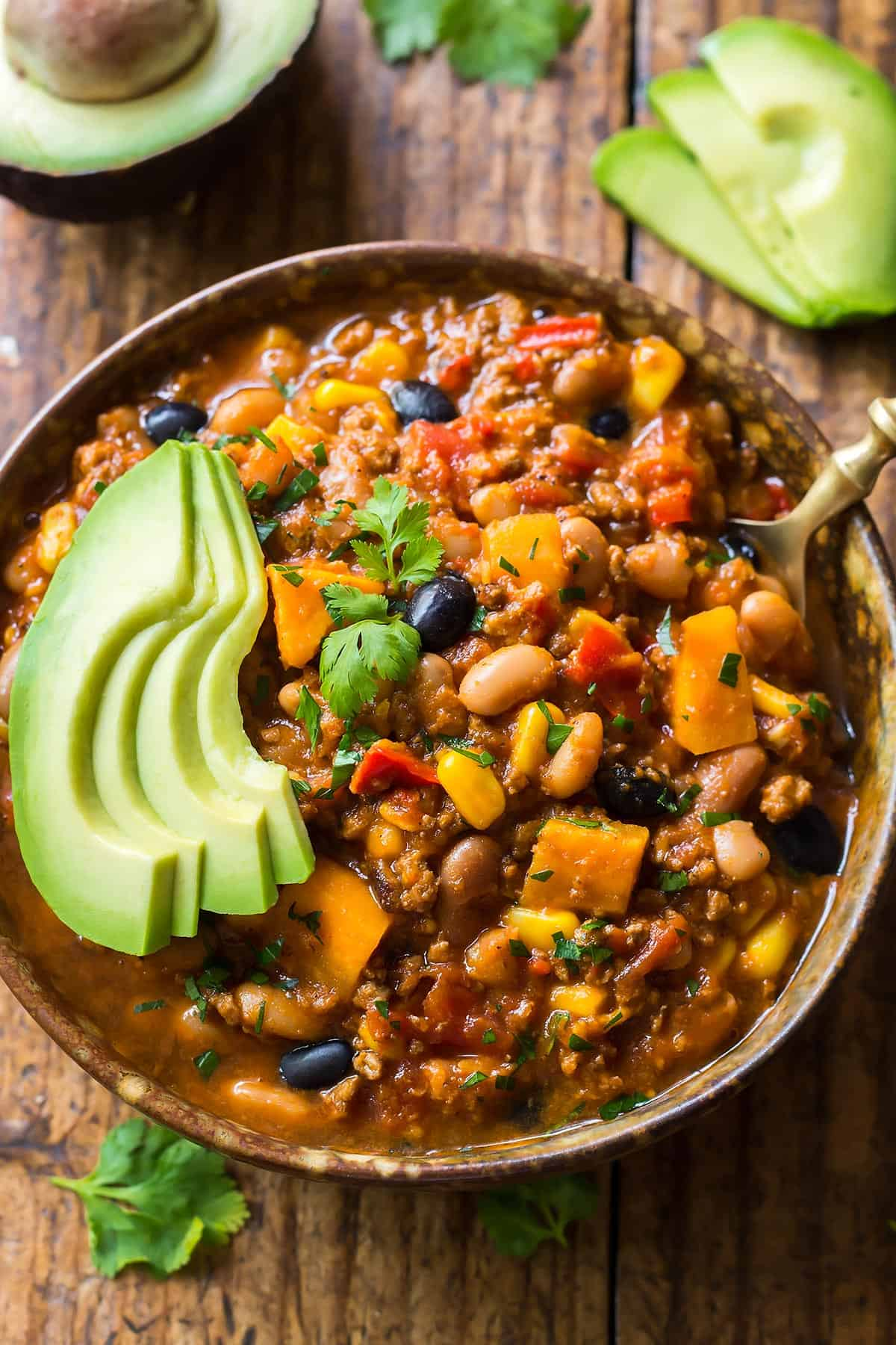 This amazing Instant Pot Chili is guaranteed to satisfy any comfort food cravings! The optional twist for Southwest Chili includes sweet potatoes and corn for a delicious sweet and spicy flavor kick.