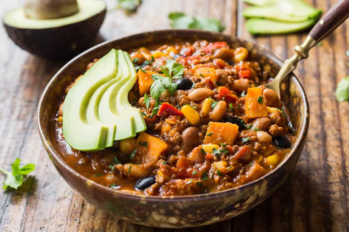 Instant Pot Chili in Bowl