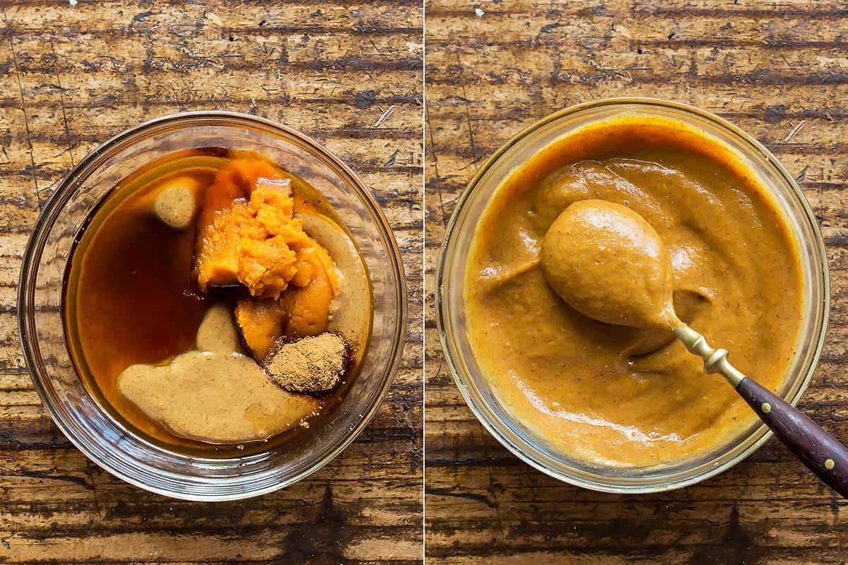 Pumpkin Almond Butter Brownie Frosting