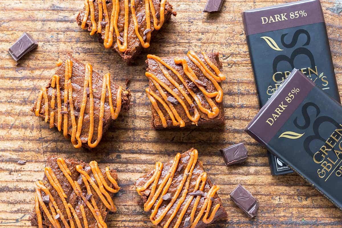 Healthy Chocolate Pumpkin Brownies