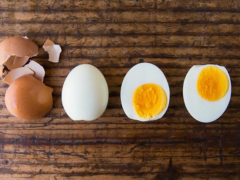 Peeled Hard Boiled Eggs