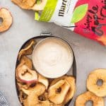 Healthy Fruit Dip in lunch box with apple chips