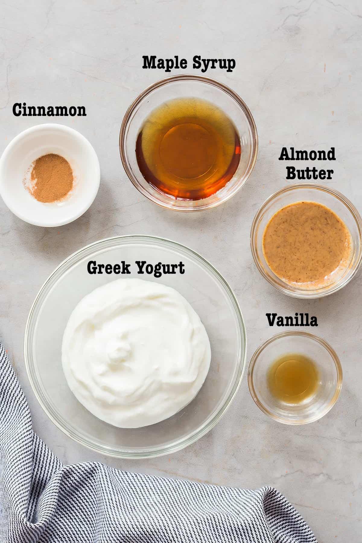Healthy Fruit Dip Ingredients