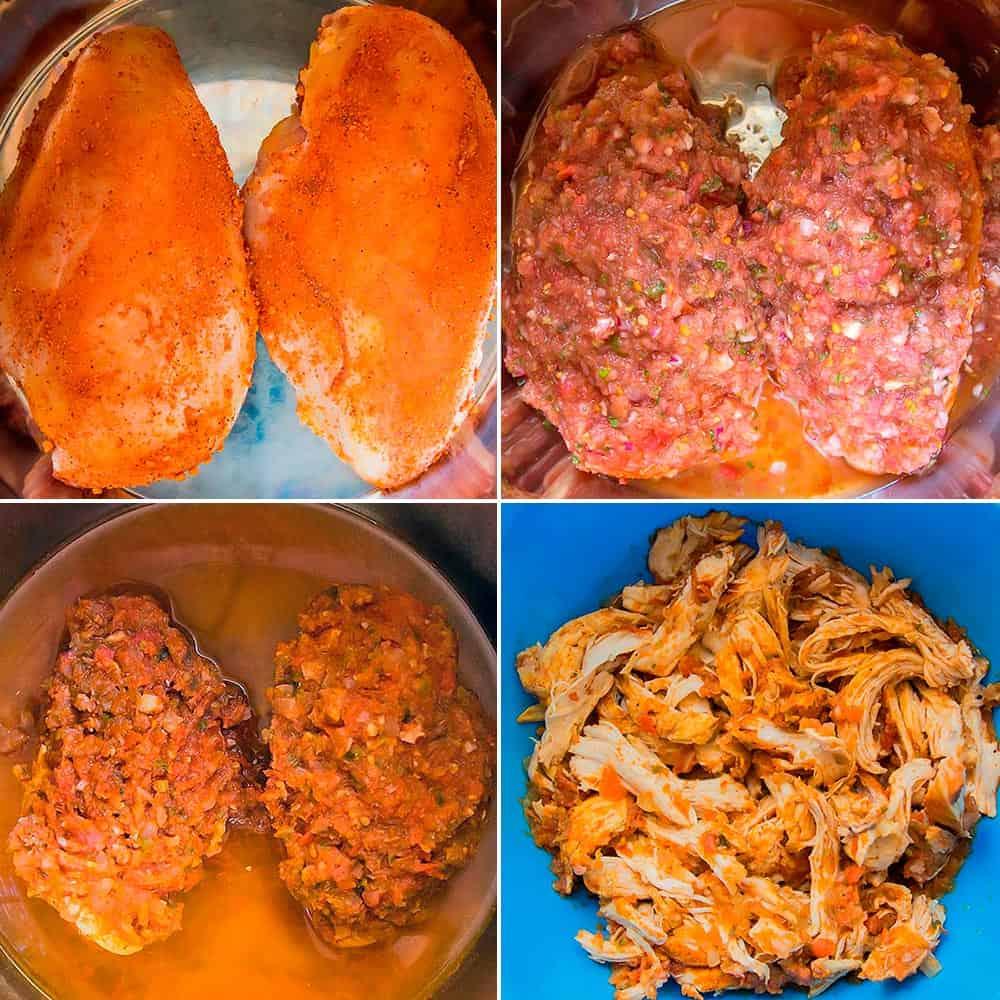 Making Shredded Chicken Tacos