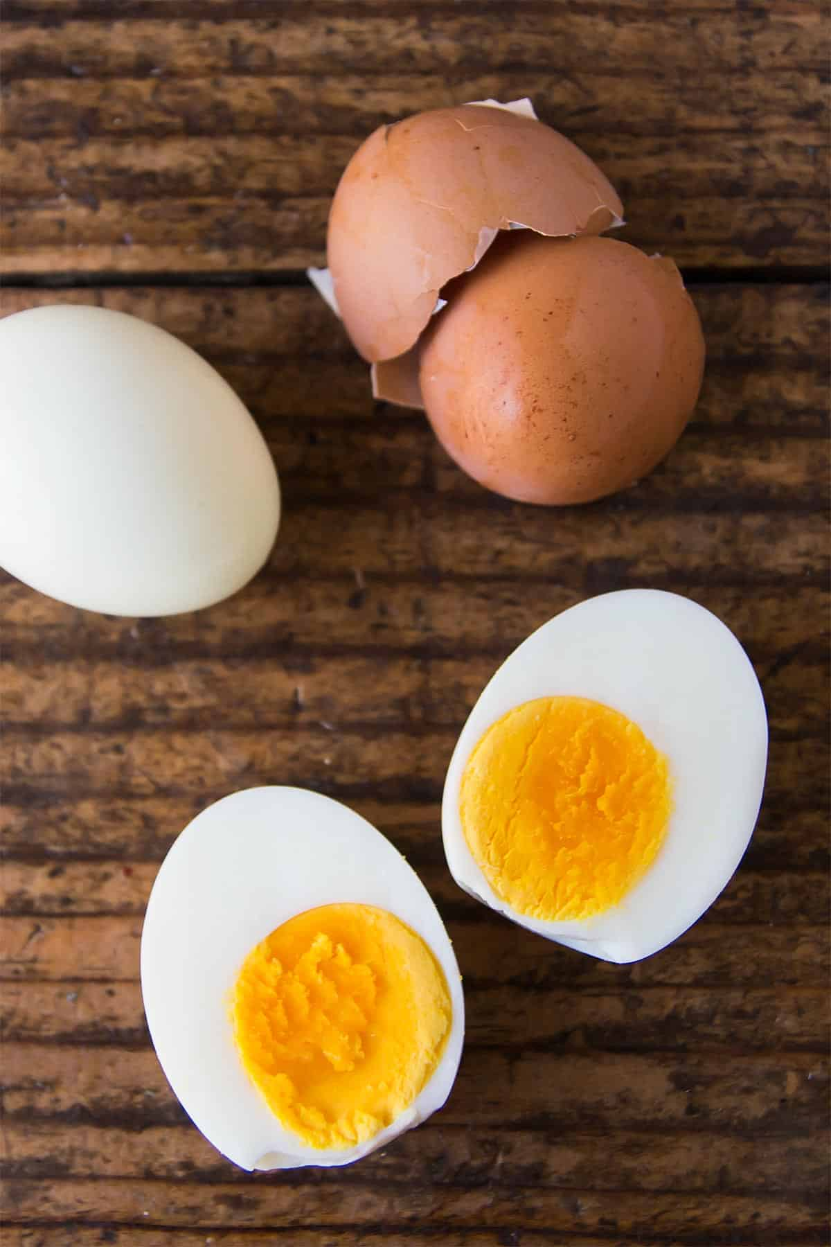 Inside of Pressure Cooked Eggs