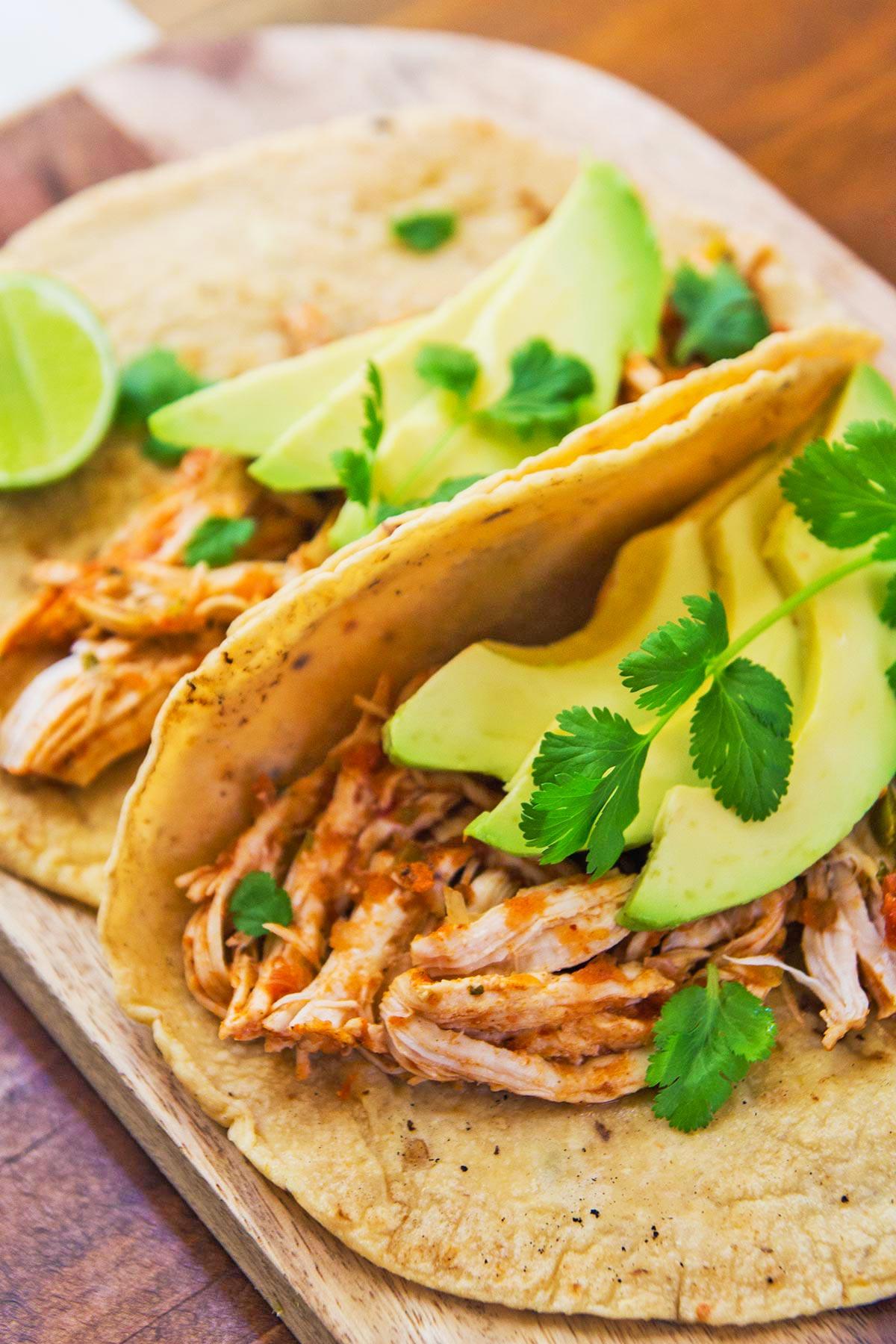 Pressure Cooker Chicken Tacos
