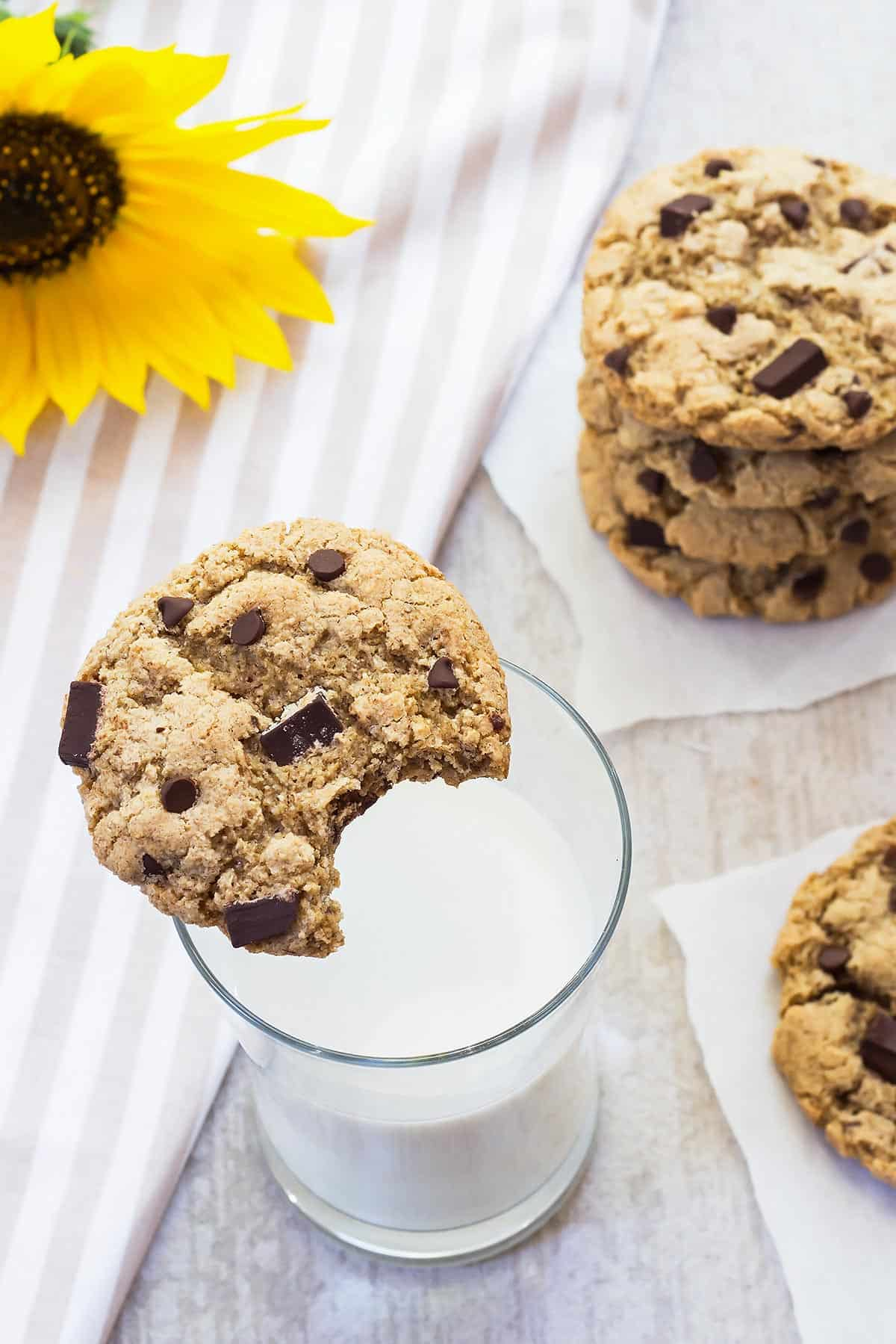 Tiger Nut Flour Gluten Free Chocolate Chip Cookies