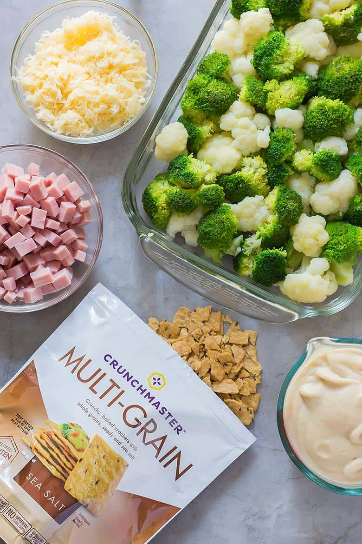 Ingredients for Ham Broccoli Casserole