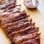 BBQ Ribs on Cutting Board