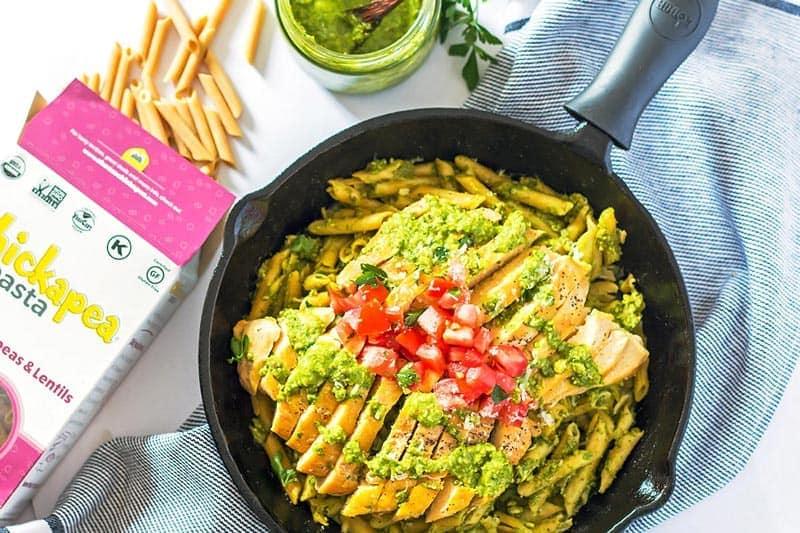 Gluten Free Pesto Chicken Pasta