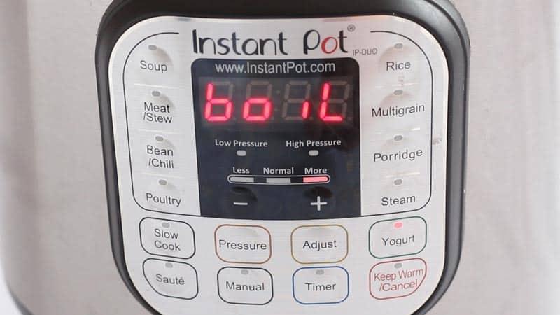 Instant Pot Boil Setting