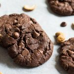 Flourless Chocolate Chip Cookies, cashews, chocolate chips