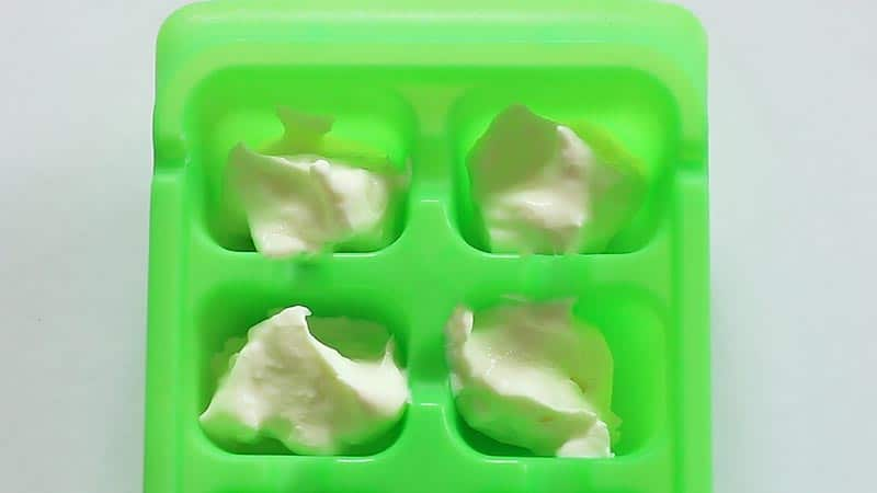 Instant Pot yogurt in ice cube tray