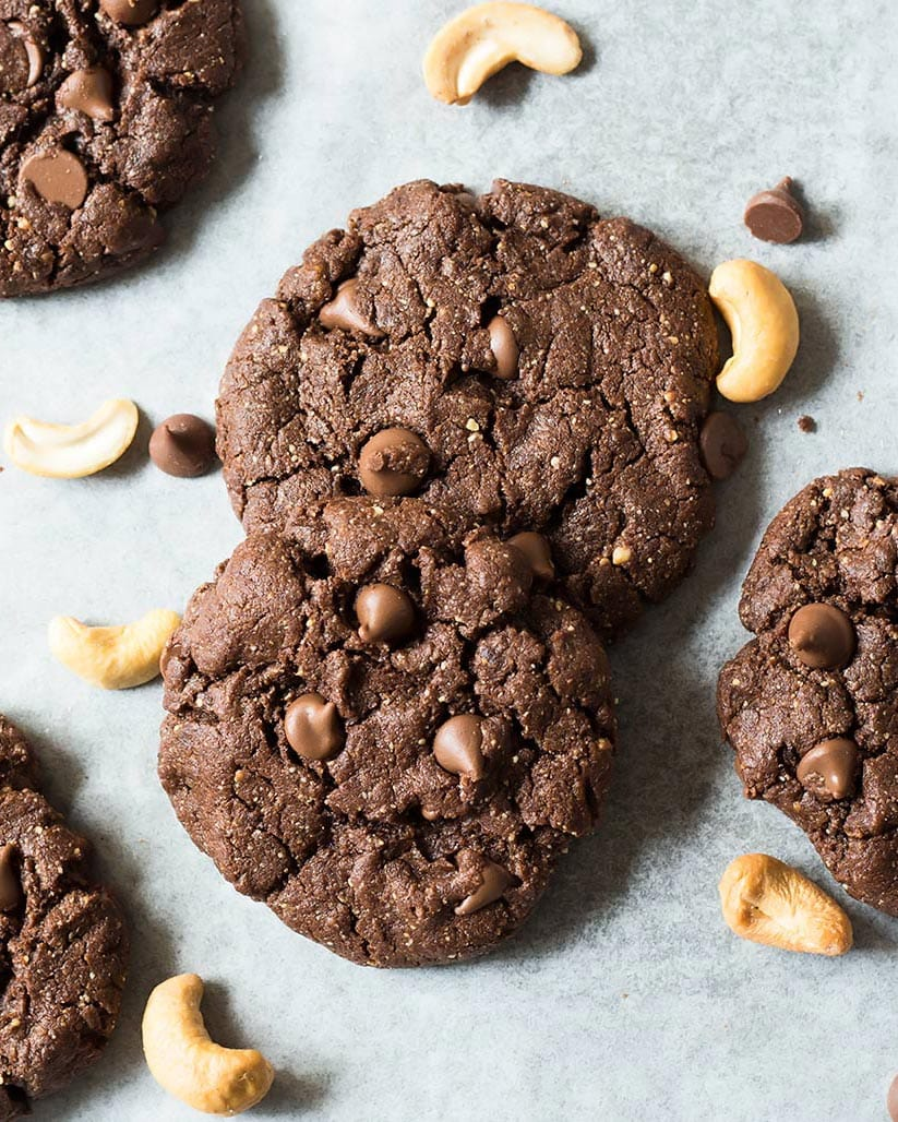 Stacked Gluten Free Chocolate Cookies