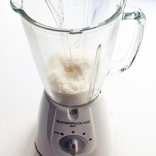 Shredded Coconut in Blender