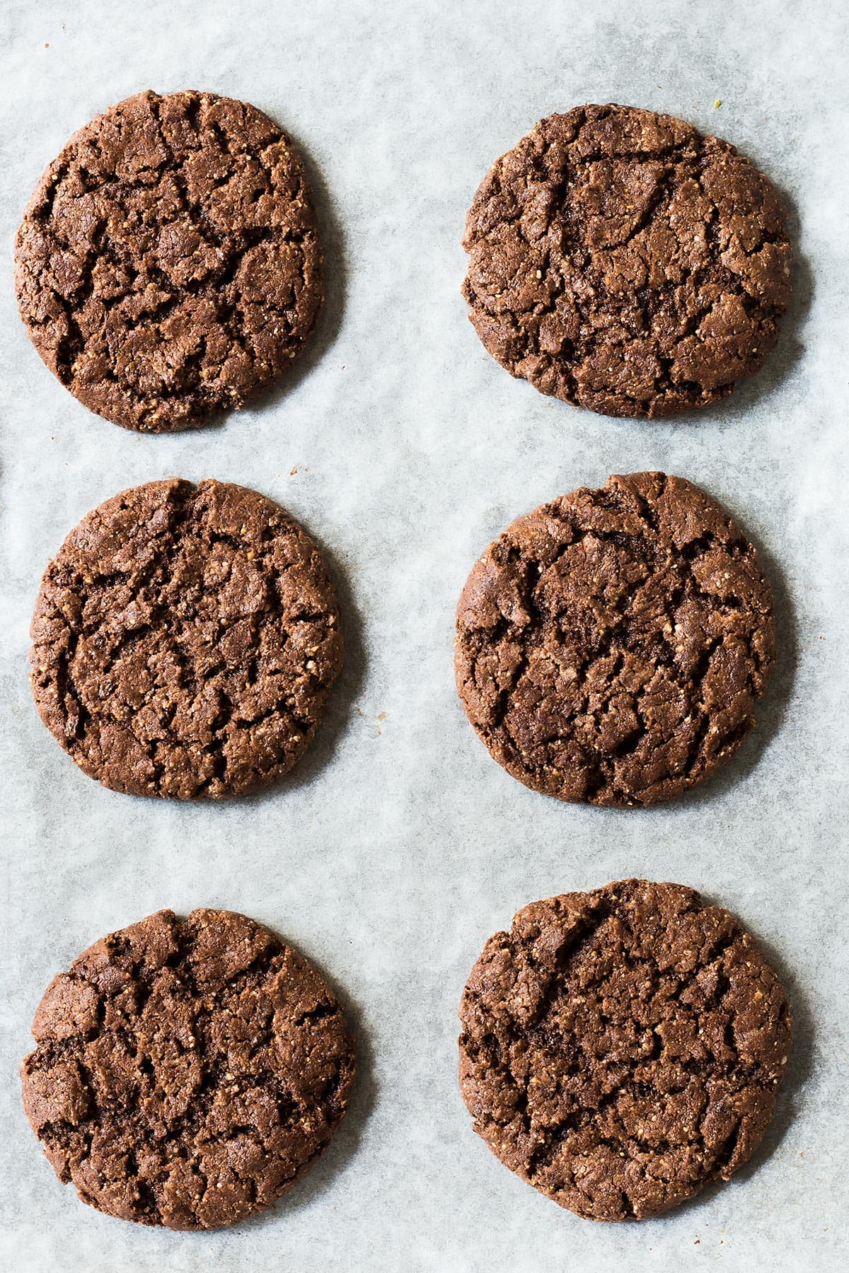 Baked No Flour Chocolate Cookies