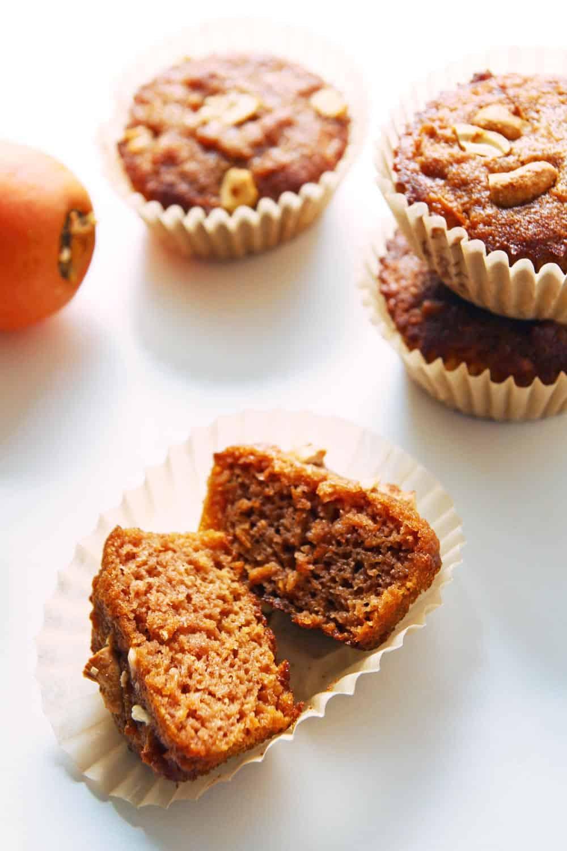 Healthy Carrot Cake Cupcake