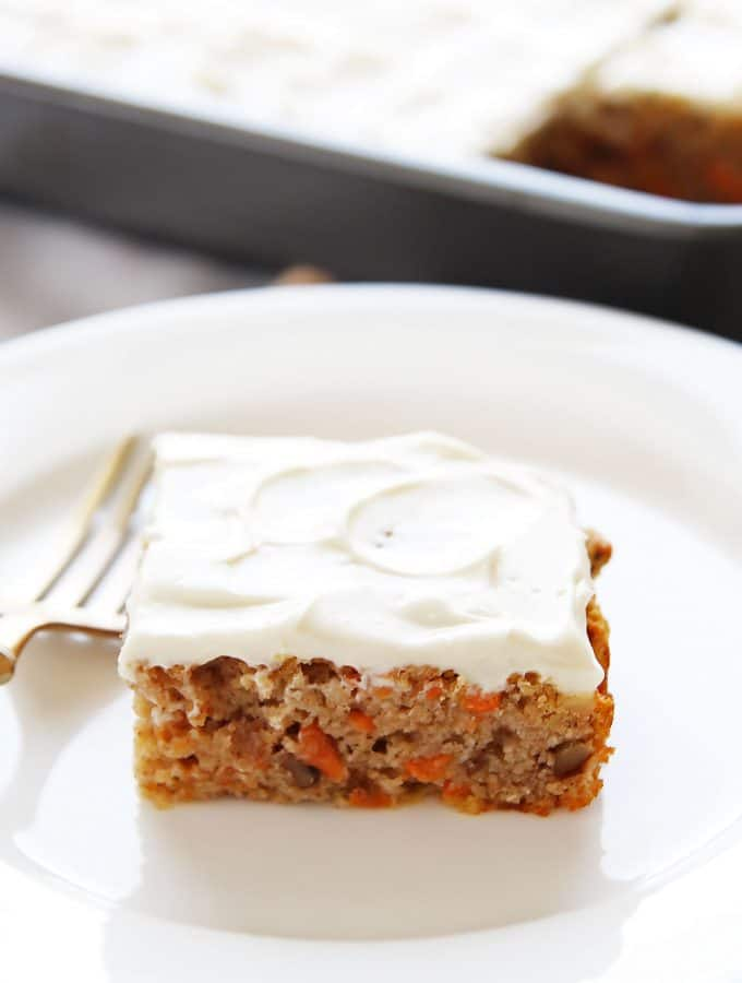 Slice of Paleo Carrot Cake