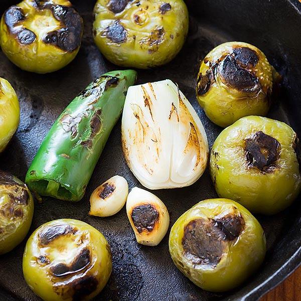 Roasting Salsa Verde Ingredients