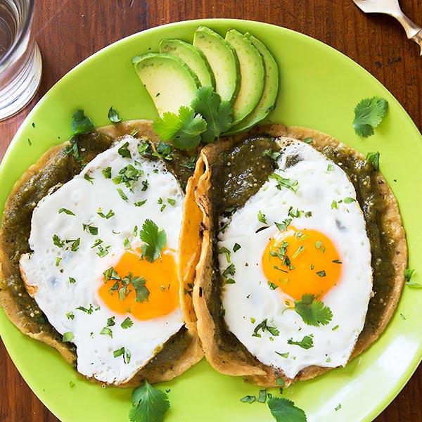 Egg Tortillas with Salsa Verde