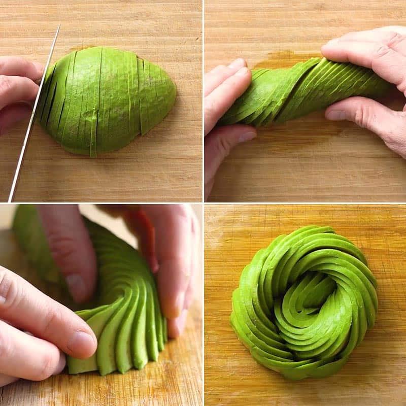 Making an Avocado Rose
