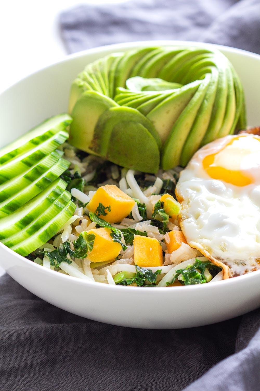 Avocado, Egg, Cucumber Breakfast Bowl