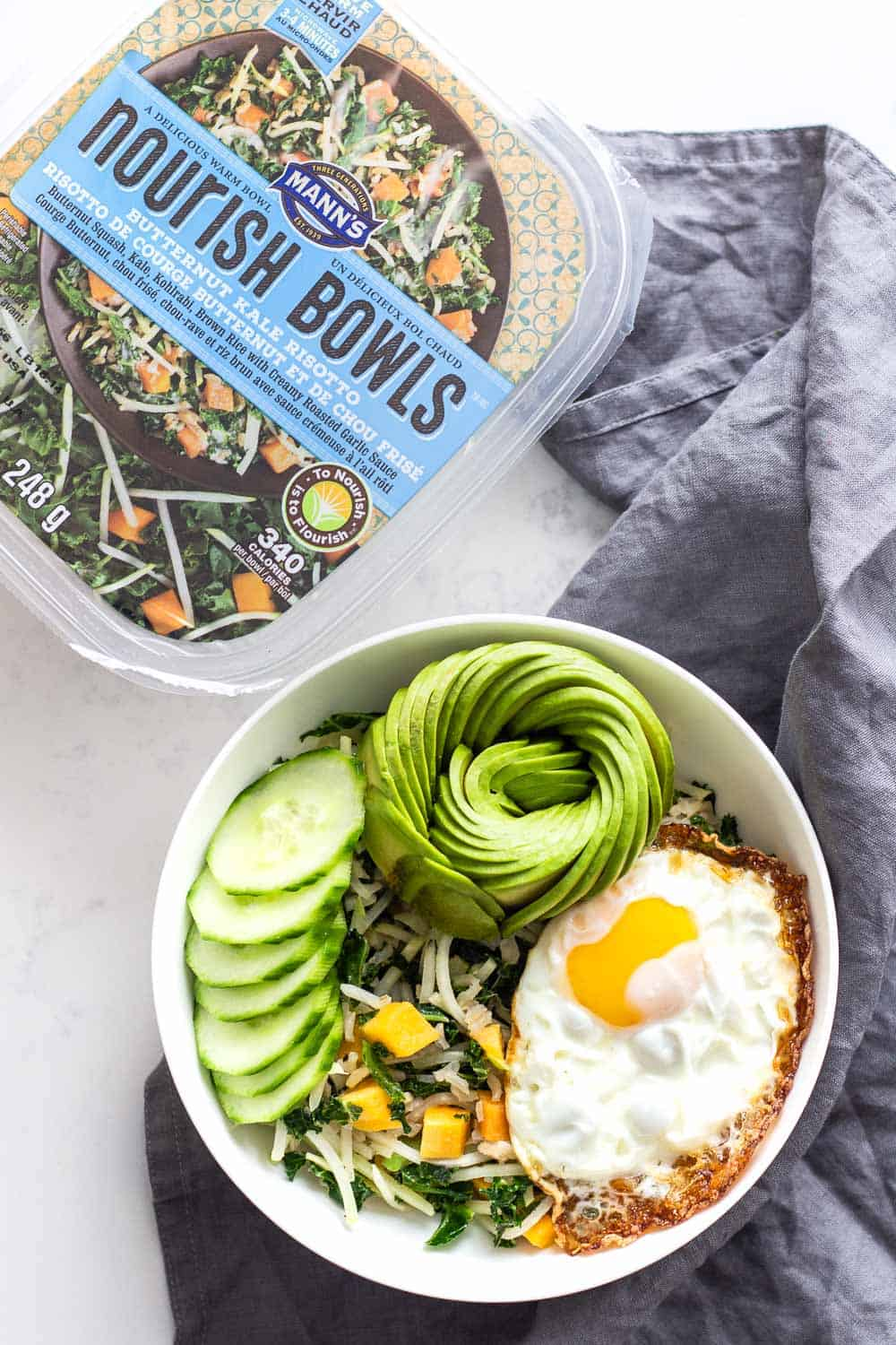 Breakfast Buddha Bowl and Mann's Nourish Bowl