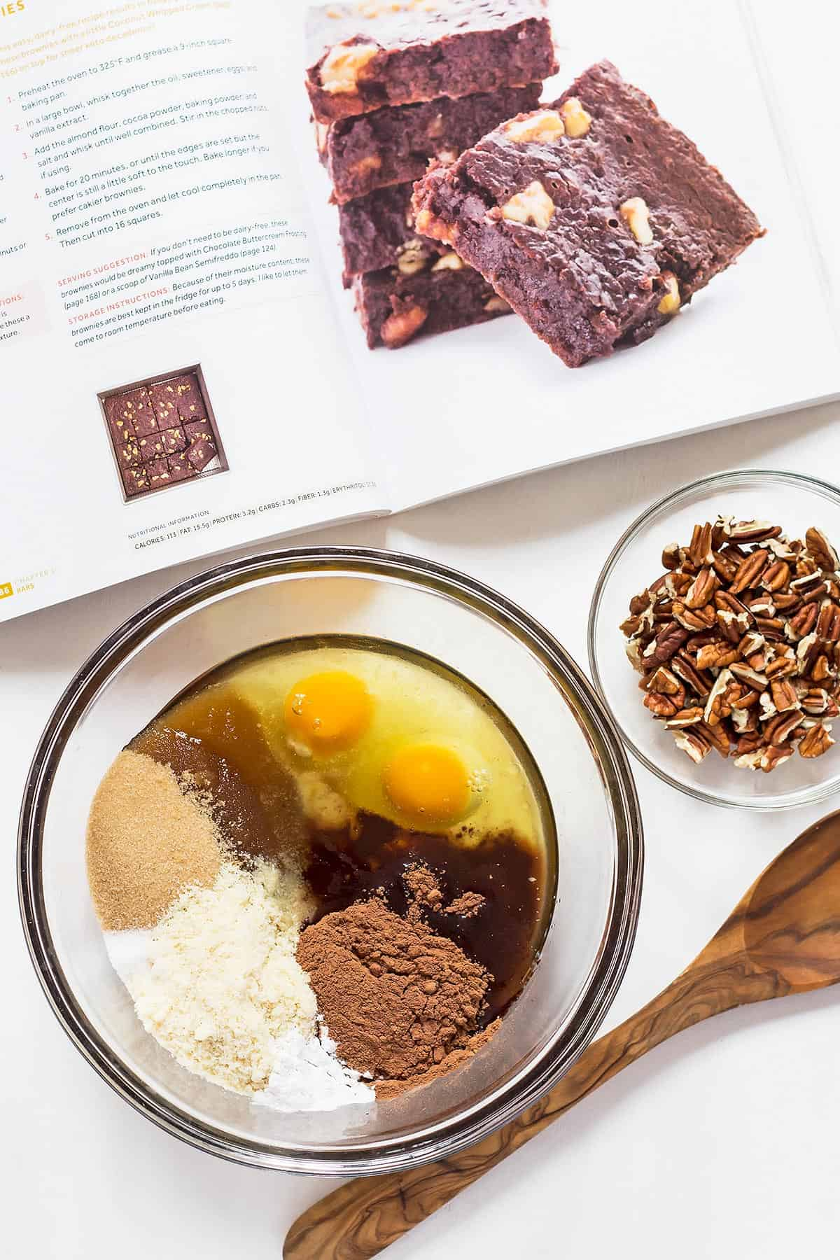 Keto Brownies Ingredients in a large bowl