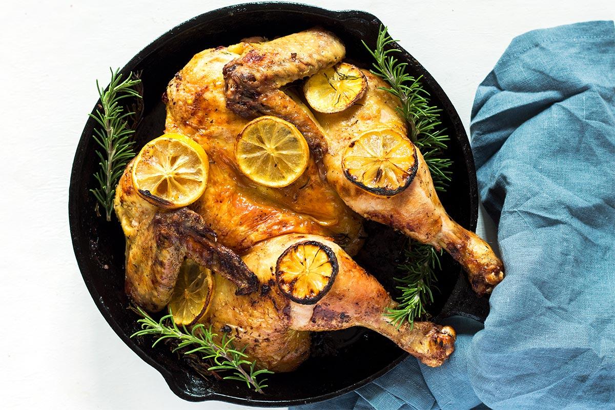 Butterflied Lemon Chicken Roast