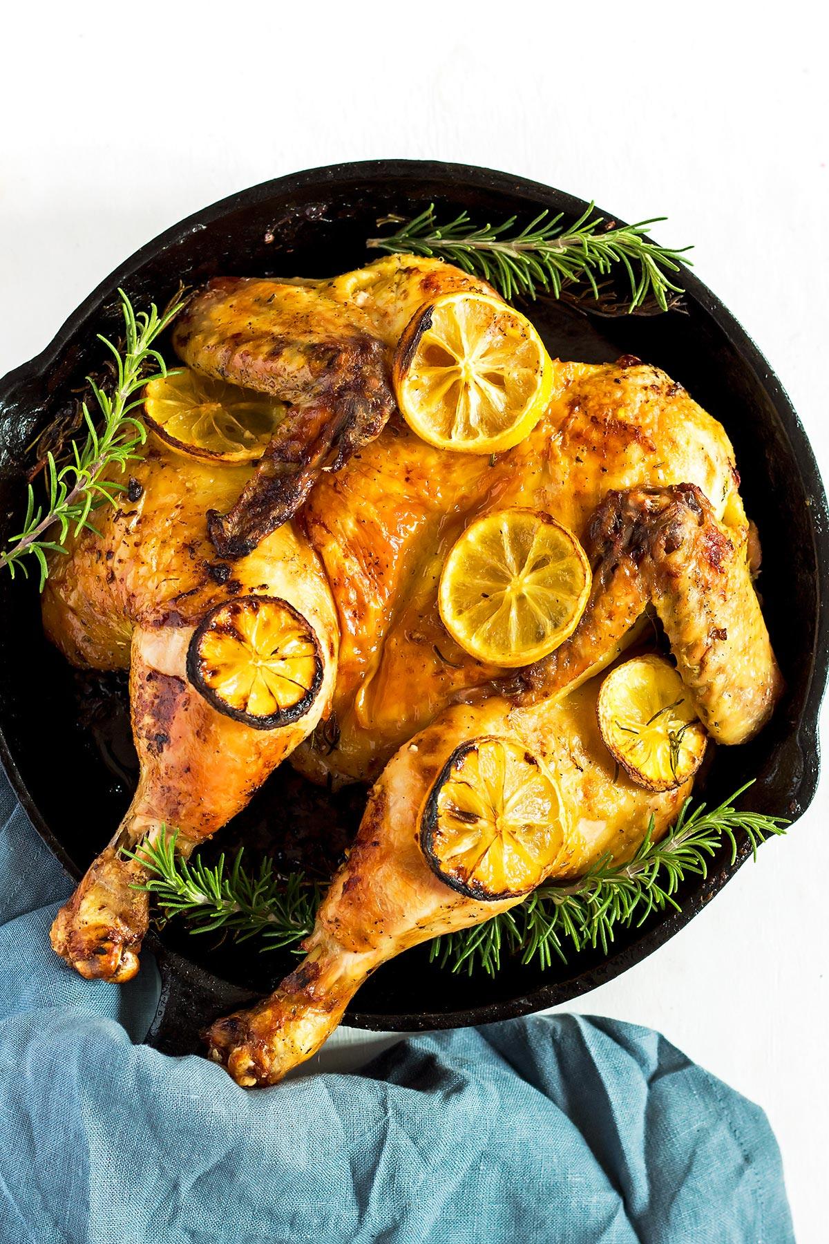 Butterflied Chicken Roast with Lemon