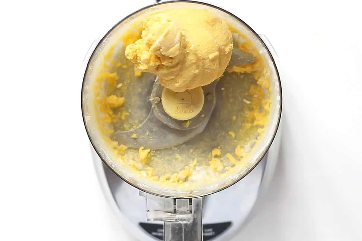 Coconut Flour Pie Crust Dough Ball in Food Processor
