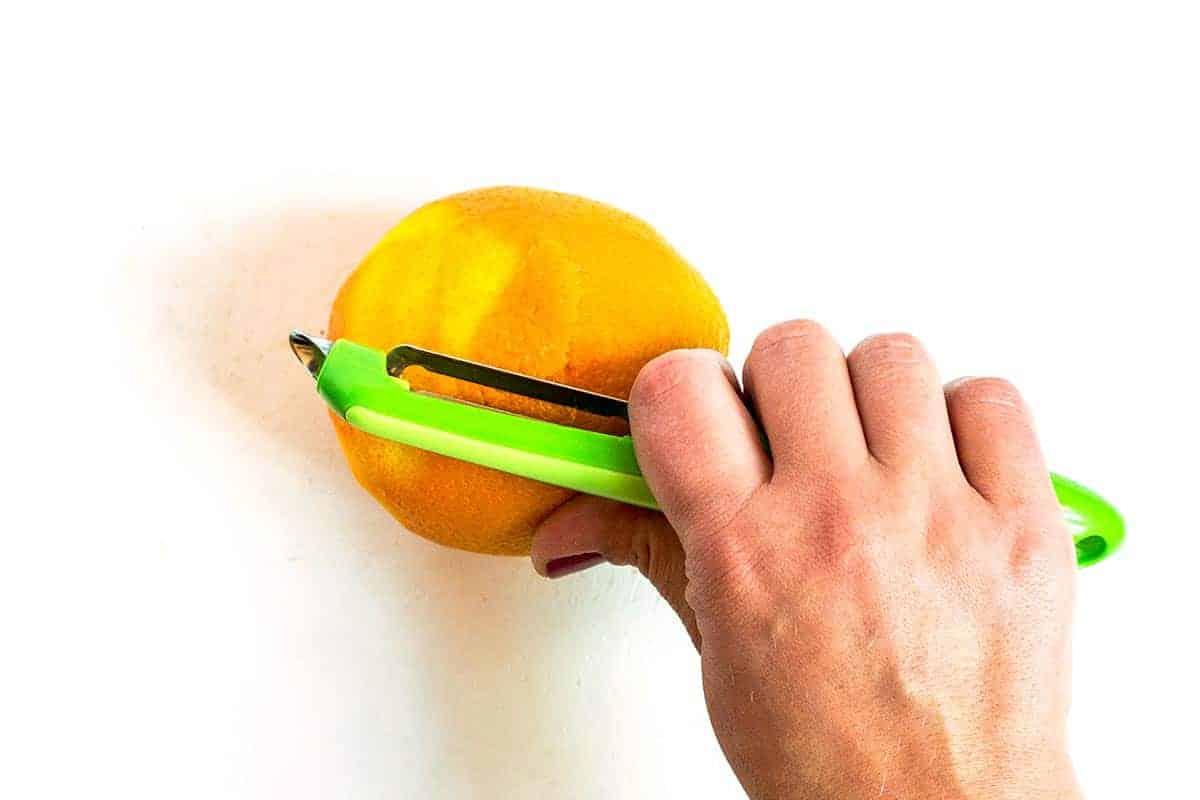 Peeling Orange Zest