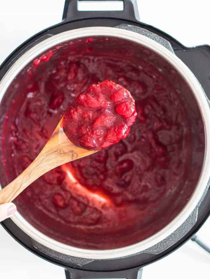 Cooked Cranberry Sauce in Instant Pot