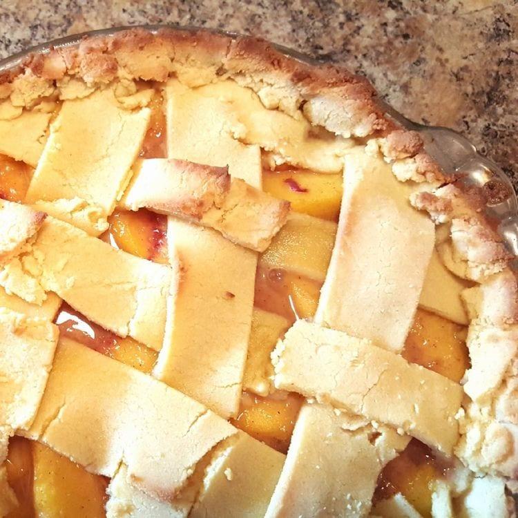 Peach Pie with Gluten-Free Crust