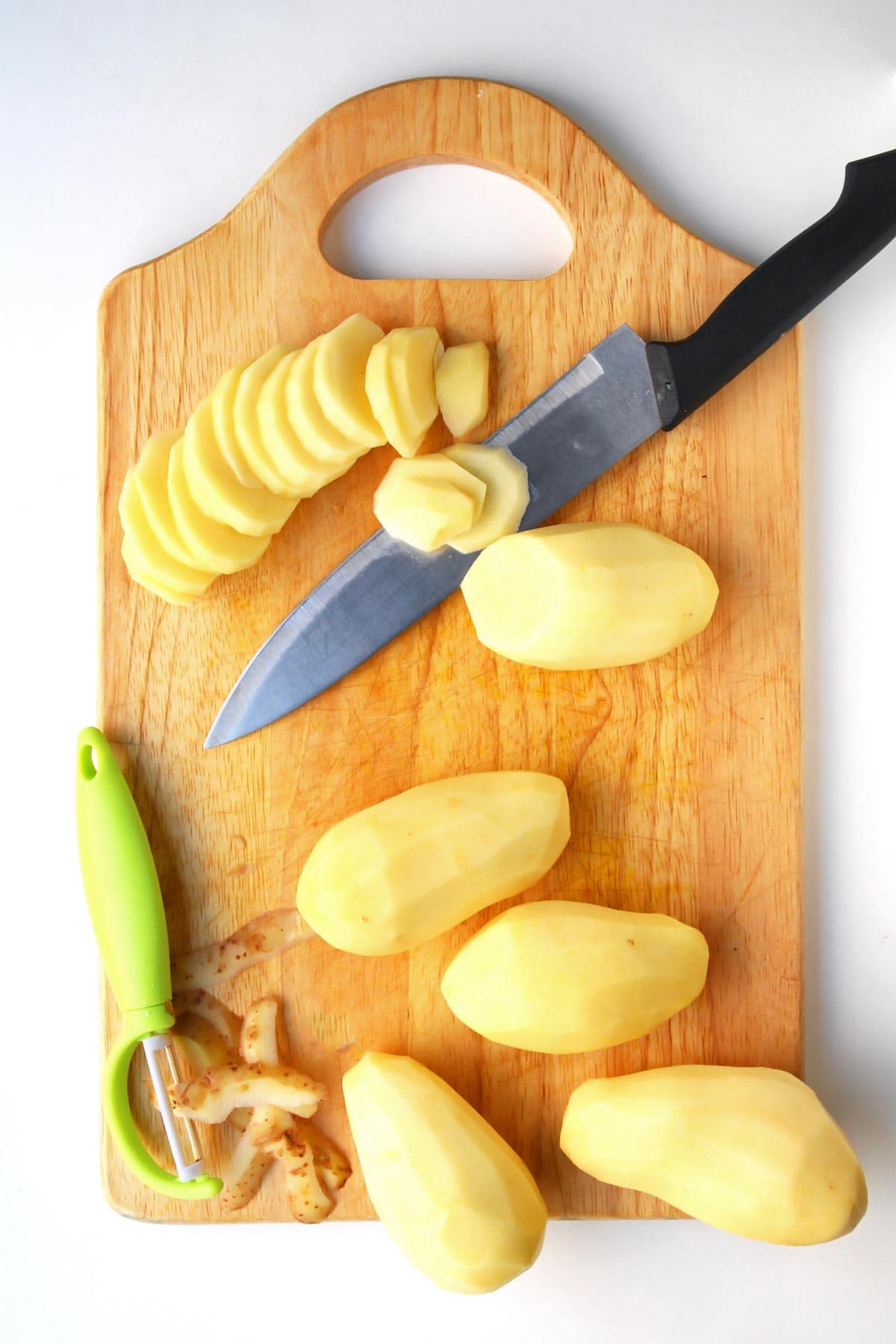Sliced Potatoes for easy Scalloped Potatoes