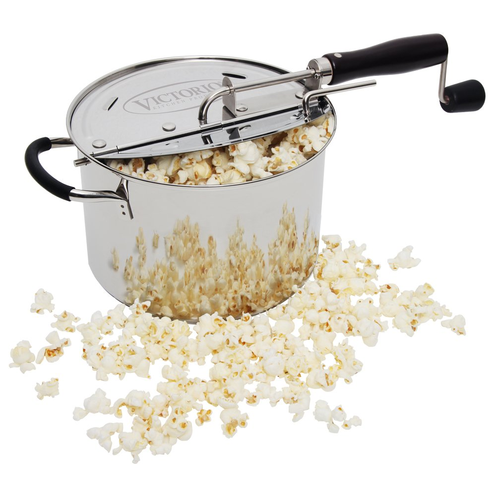 Victorio Stovepop Stainless Steel Popcorn Popper