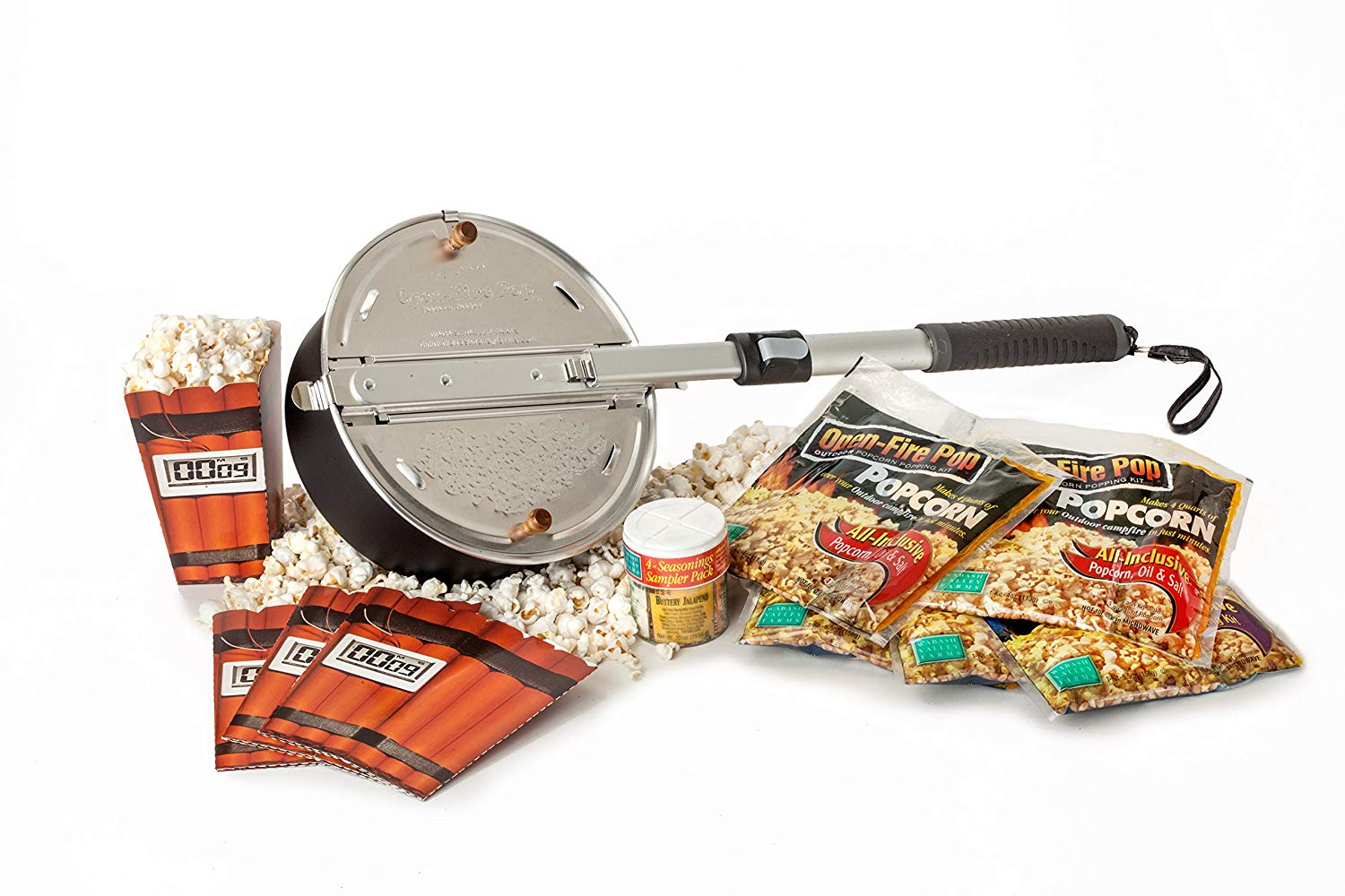 Whirley Pop Open Fire Popcorn Popper and Popping Kit